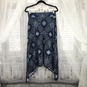 Maurices Medium Blue Asymmetrical Midi Skirt
